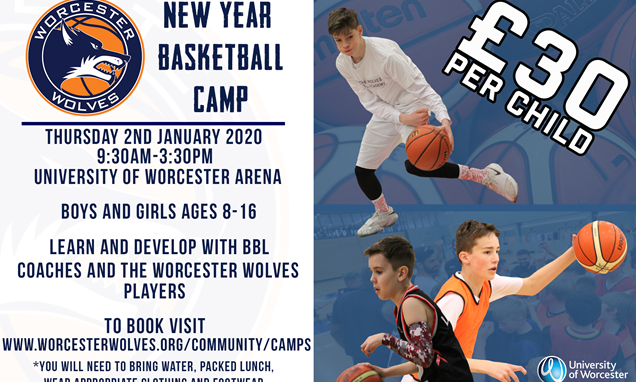 Worcester Wolves New Year Basketball Camp